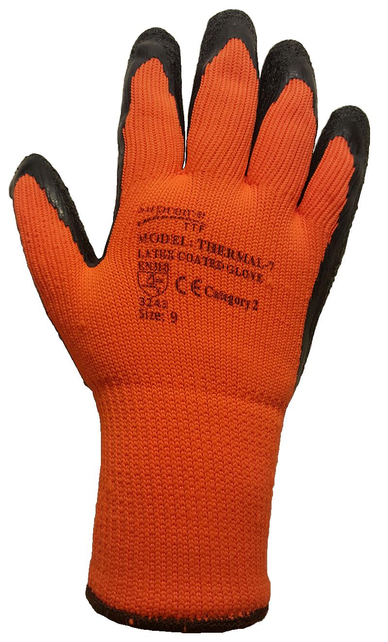 Orange cut 3 glove
