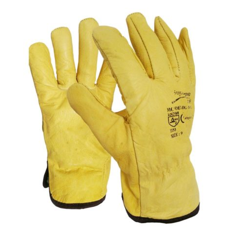 Yellow Leather Drivers Gloves  DG-YCG
