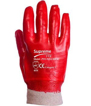 PVC Dip Knit Wrist Safety Glove