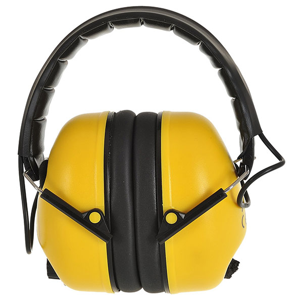 Padded Head Band Yellow Folding Ear Defender