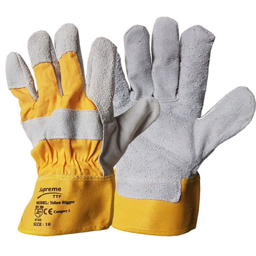 Yellow Canadian Leather Rigger Glove