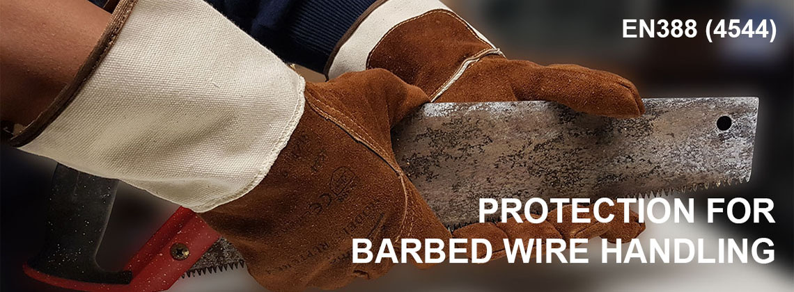 barbed wire glove