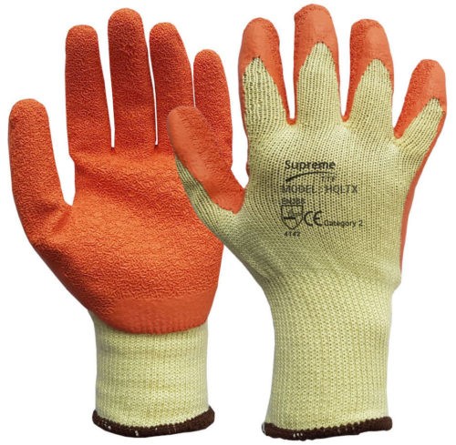 Yellow/Orange Grip and Grab Work Gloves HQLTX