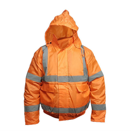 Orange Hi Vis Bomber Jacket