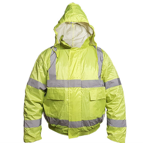 Yellow Hi Vis Bomber Jacket