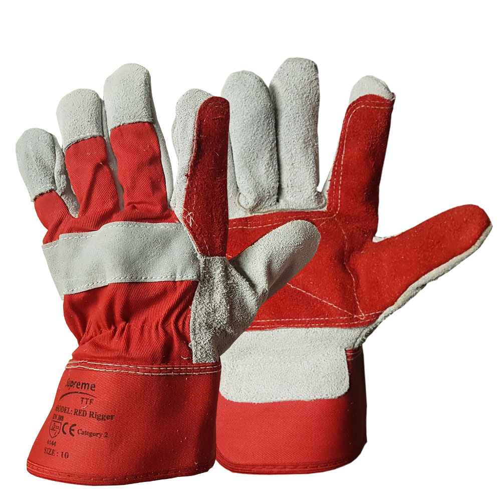 Double Palm Canadian Leather Rigger Glove