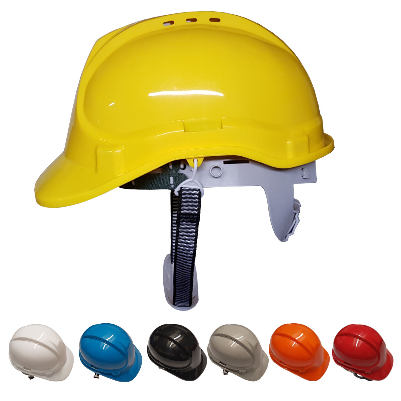 8 Point Safety Helmet Hard Hat Chin Strap – Pin lock