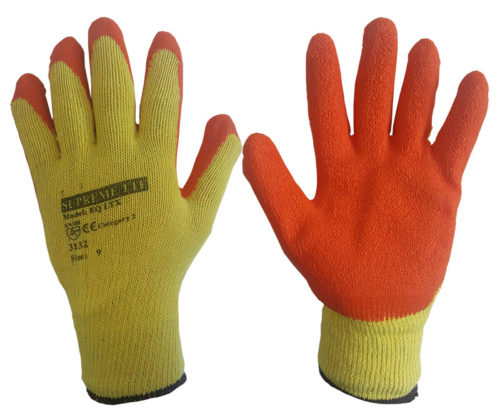 EQ Latex Orange GRIP AND GRAB GLOVES