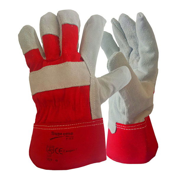 Red Canadian Leather Rigger Gloves