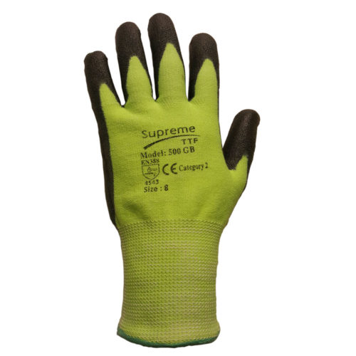500 GRB Green Black Cut Level 5 Protection Gloves
