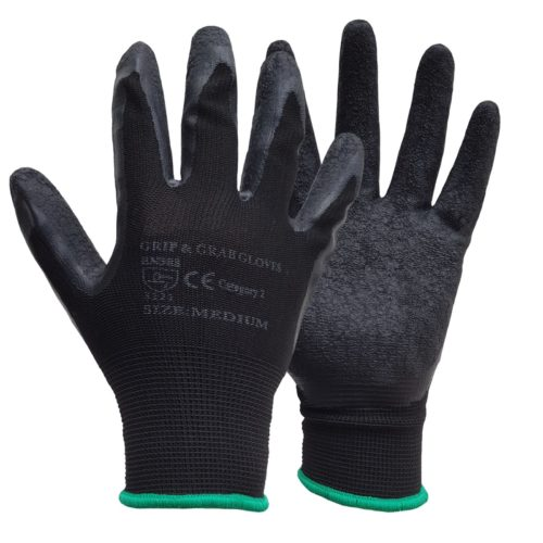 Latex Coated Grip & Grab Work Gloves