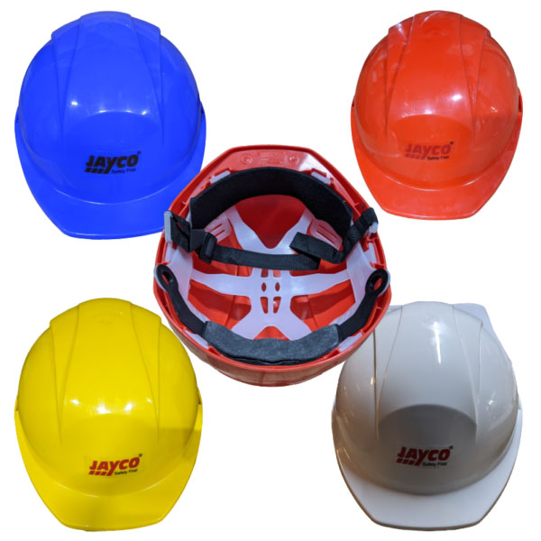 Single Strip Safety Helmet with Strap Fitting