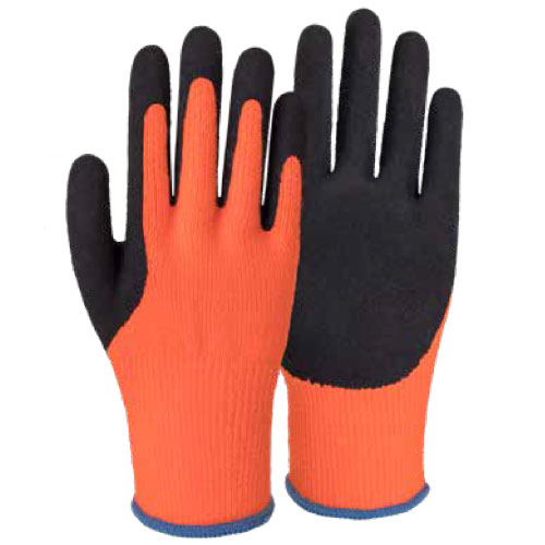 10G Acrylic Napping Shell Latex Foam Thumb Coated Gloves AL624