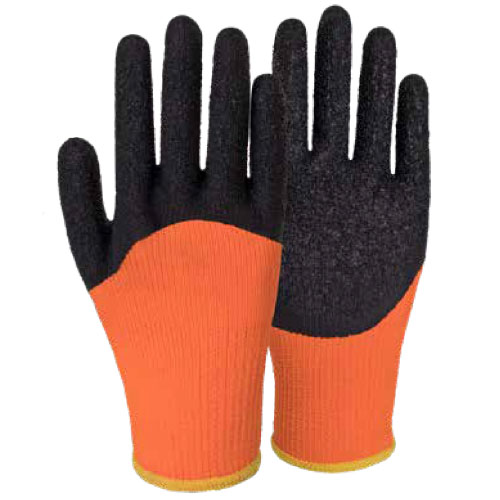 10G Polyester Napping Shell Latex Crinkle Half Coated Gloves DL672