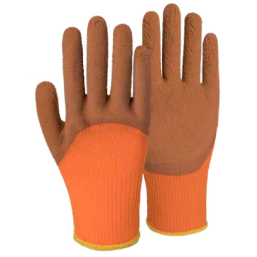 7G Polyester Terry Shell Latex Foam Half Coated Gloves DL673