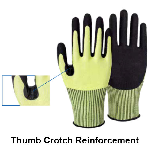 13G Cut Resistant Nitrile Sandy Coated Gloves HN500E